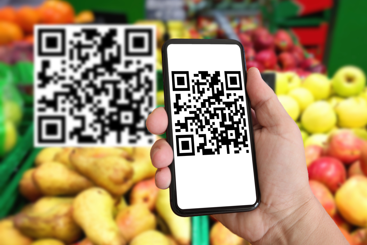 QR code mobile phone shopping supermarket